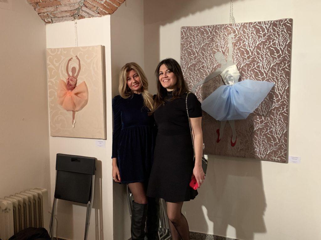 Cristiana D'anna alla milano art gallery con le sue opere